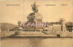 Old Postcard Gruss vom Rhein Kaiserdenkmal Coblenz