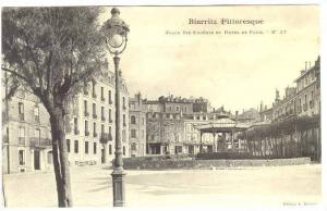 Biarritz, Pittoresque, Place Ste-Eugenie et Hotel de Paris, Aquitaine, France...