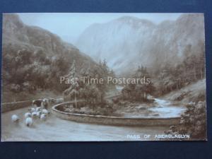 North Wales PASS OF ABERGLASLYN Art by Elmer Keene c1908 Postcard