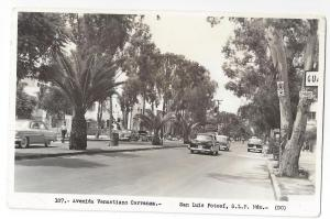 RPPC Mexico San Luis Potosi Avenida Venustiano Carranza 1960
