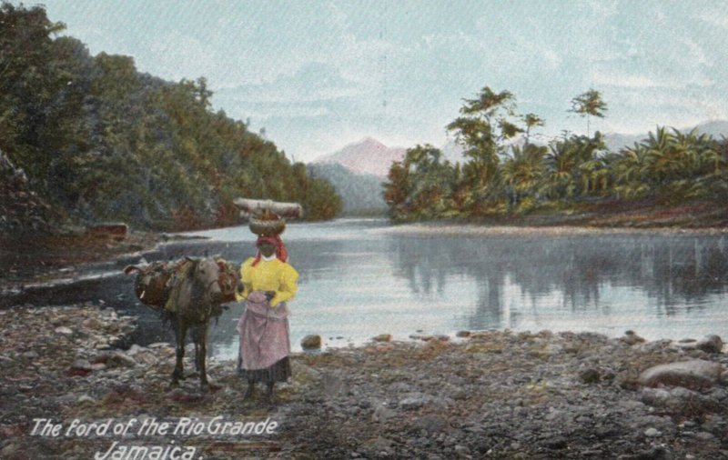 JAMAICA, 1900-1910s; The ford of the Rio Grande