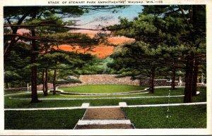Wisconsin Wausau Stage Of Stewart Amphitheatre 1937
