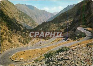 Postcard Modern Traversing the Pyrenees The laces of the road of lakes Oredon...