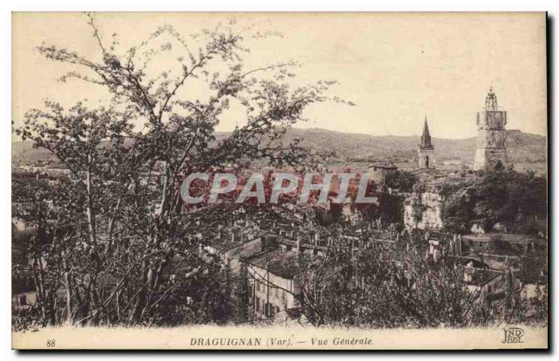 Old Postcard Draguignan Var Vue Generale