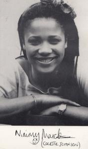 Colette Johnson Nimmy March Albion Market Vintage Printed Signed Photo Cast Card