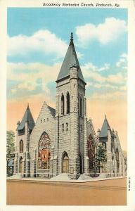 Vintage Postcard Broadway Methodist Church Paducah KY McCracken County