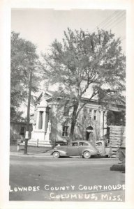 LPSS24 Columbus Mississippi Lowndes County Court House Postcard RPPC