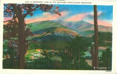 A Panoramic view in the Southern Appalachian Mountains, u...