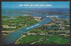 Massachusetts, Cape Cod - Aerial View of Canal, Buzzards Bay - [MA-016]