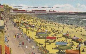 New Jersey Atlantic City Beach Scene