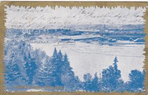 Paper Mill, Lumber Yards, Keewatin, Ontario, Canada, PU-1908