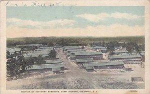 South Carolina Colimbia Section Of Infantry Barracks Camp Jackson1918