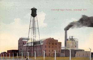 Scotts Bluff Nebraska~Water Tower @ Sugar Factory Dwarfs Smokestack c1914