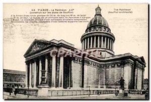 Paris - 5 - Pantheon built on the plans of Soufflot - Old Postcard