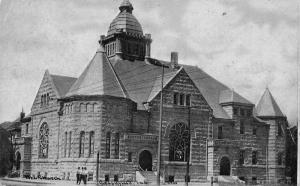 Greenfield Indiana~Methodist Episcopal ME Church~1908 CU Williams Photoette PC