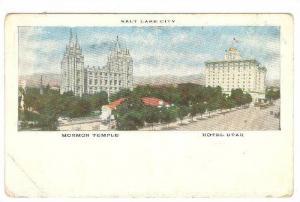 Mormon Temple, Hotel Utah, Salt Lake City, Utah, 1910-1920s