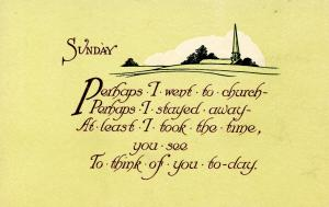 Greeting - Sunday.  (© 1913 Graphic Art Co., KX-1)