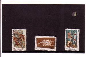 3 Different Used Australia Aboriginal Art Stamps