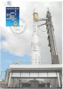 Switzerland 1979.  Rocket Launch