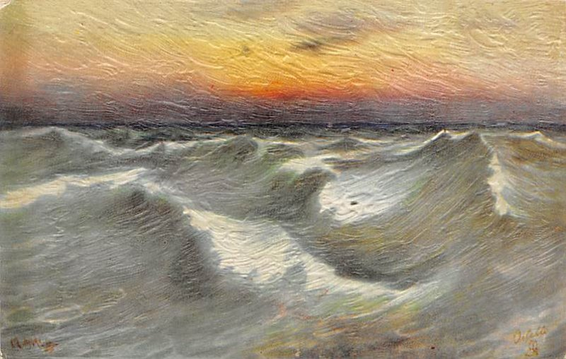 Art Post Card,Old Vintage Artist Postcard What are the Wild Waves Saying ENgl...