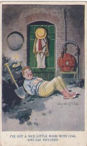 AS: I've got a nice little room with coal and gas included, Man sleeping on t...