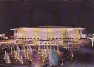 Belgium Brussells The Pavilions U S A Bij Night Exposition Universelle Interm...