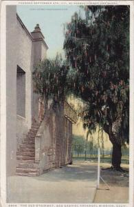 California San Gabriel The Old Stairway San Gabriel Arcangal Mission 1925