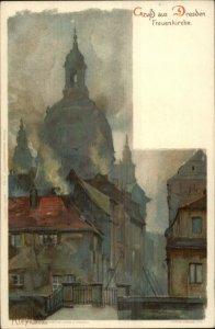 Gruss Aus Dresden - Frauenkirche KLEY c1900 Postcard