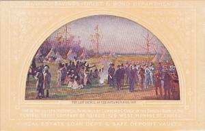 The Last Council Of The Pottawatomie Indians 1833 Painting At Central Trust C...
