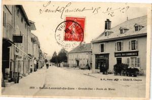 CPA St-LAURENT-DU-JURA - Route de MOREZ (211424)