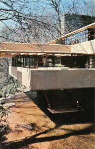 Mill Run Pennsylvania Fallingwater Frank Lloyd Wright Vintage Postcard J74480