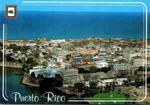 Puerto Rico San Juan Aerial View Of Old San Juan