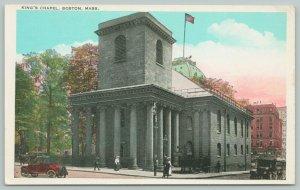 Boston Massachusetts ~Kings Chapel~1920s Postcard