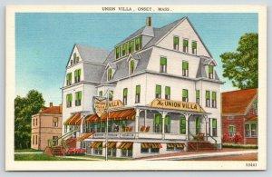 Cape Cod Onset Bay Massachusetts~Union Villa~Hotel & Restaurant~1940s Linen PC