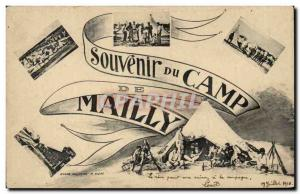Old Postcard Militaria Camp of Mailly Remembrance