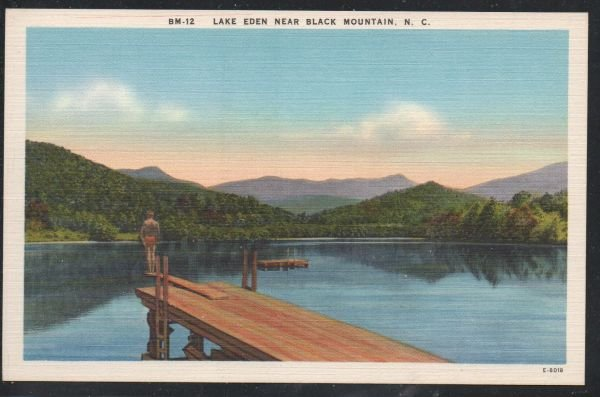 North Carolina colour lake Eden Near Black Mountain, N.C unused