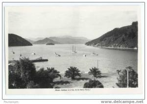 RPPC Picton Harbour New Zealand, Standard size real photo by N. Perry No.16