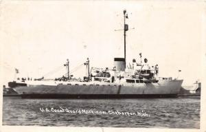 E27/ Cheboygan Michigan Mi Ship RPPC Postcard 1951 US Coast Guard Mackinaw