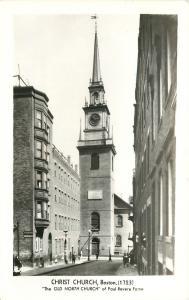 Boston Massachusetts~Christ Old North Church~1950s Real Photo Postcard~RPPC