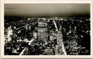 1930s New York City RPPC Photo Postcard North View from EMPIRE STATE BUILDING
