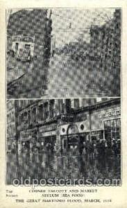 The great Hartford Conn.USA Flood, March, 1938Disaster Disasters, Postcard Po...