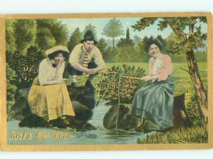 Divided-Back PRETTY WOMAN Risque Interest Postcard AA7822