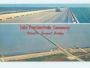 Unused Pre-1980 CAUSEWAY BRIDGE New Orleans Louisiana LA H7849