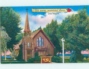 Pre-1980 CHURCH SCENE Las Vegas Nevada NV AD0532