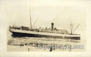Real photo, SS Yukon AT Columbia Glacier, Alaska, AK USA Steam Ship Postcard ...