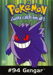 Pokemon Postcard, #94 GENGAR Pokemon Character (PC0159) 57V