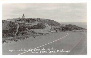 LP16 California RPPC  Postcard Light House Point Loma