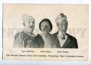 198160 CIRCUS Clown Tom BELLING Little BOB Jolly AAGE Vintage
