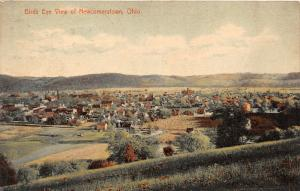 F25/ Newcomerstown Ohio Postcard 1908 Birdseye View Homes
