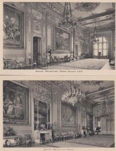 Windsor Castle Grand Reception Room 2x Antique Tuck Mint Postcard s